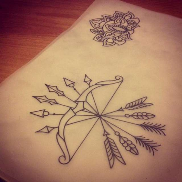 73 bow and arrow tattoos ideas. Black Bedroom Furniture Sets. Home Design Ideas
