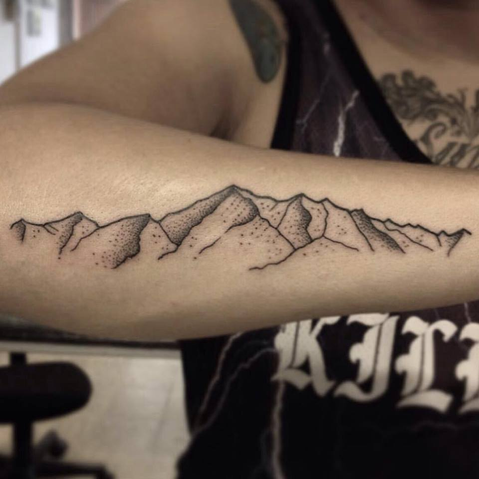 Mountain Tattoos On Right Arm By Danielrozo