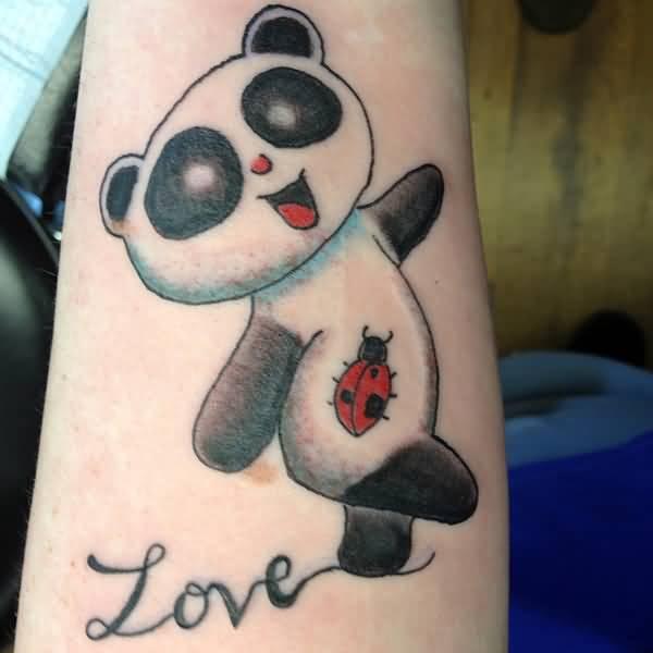 Panda tattoos for Baby panda tattoo