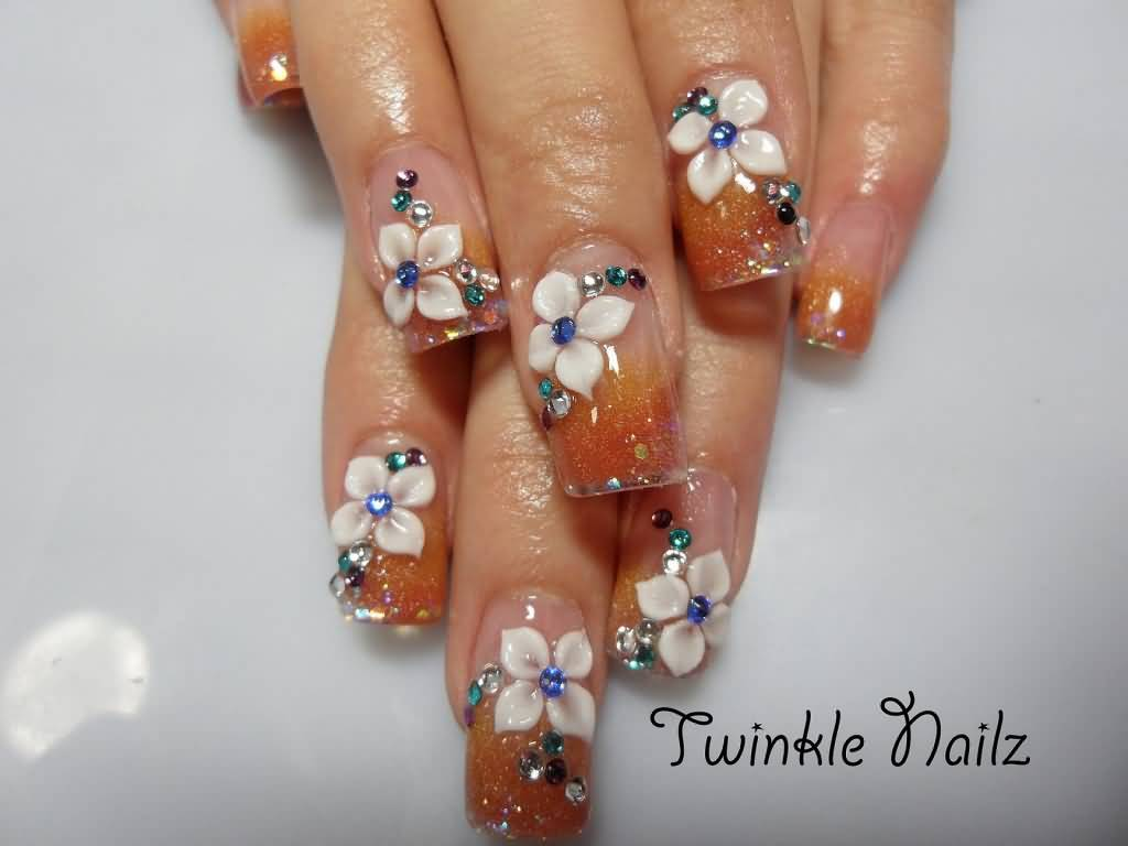 Tiger lily nail art best image of tiger 2018 365 days of nail art prinsesfo Image collections