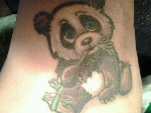 74+ Wonderful Panda Tattoos - photo#39