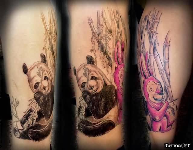 74+ Wonderful Panda Tattoos - photo#26