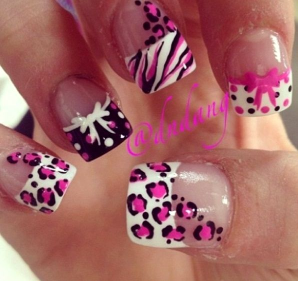 Black And Pink French Tip Nails 50+ Latest Fren...
