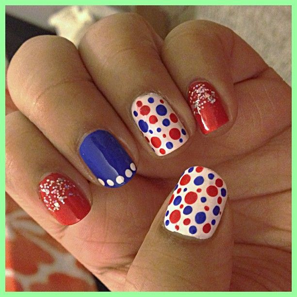 55 most stylish fourth of july nail art designs polka dots fourth of july nail art design prinsesfo Gallery