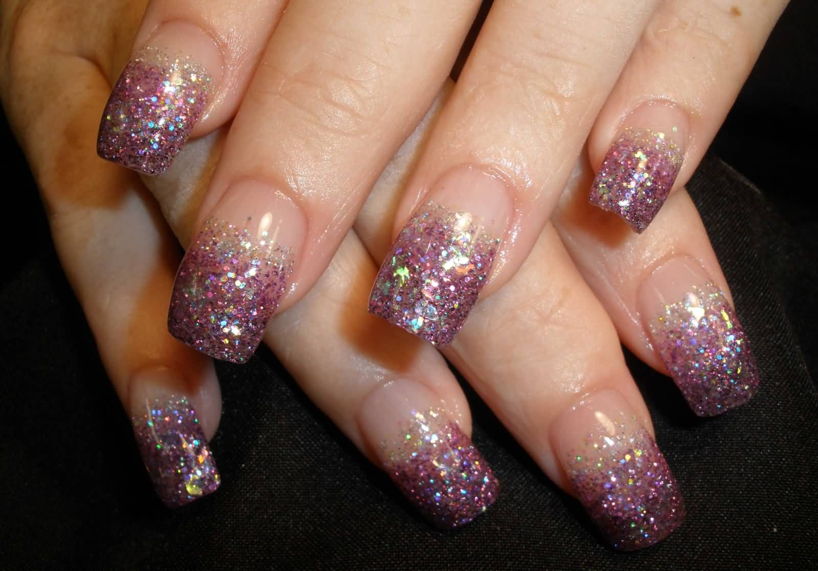 50 Most Beautiful Glitter French Tip Nail Art Design Ideas