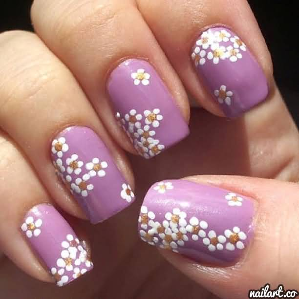 55+ Most Stylish Flower Nail Art Design Ideas