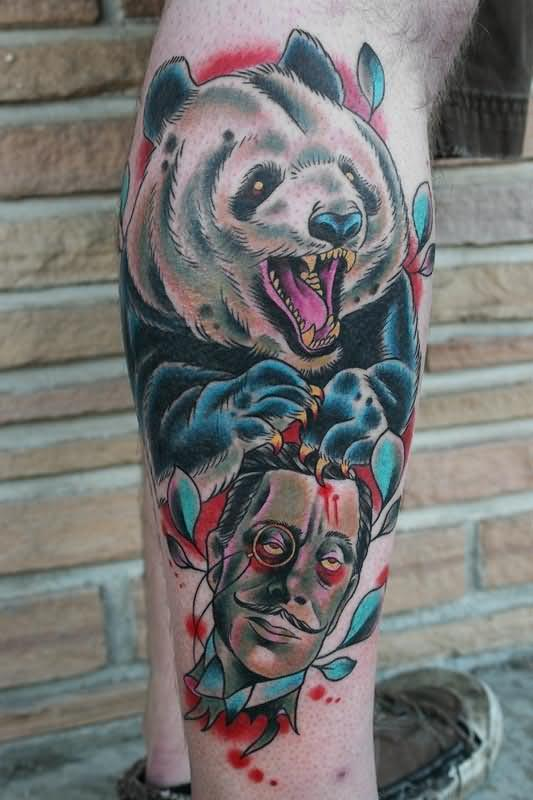14 Panda Tattoos Ideas For Legs