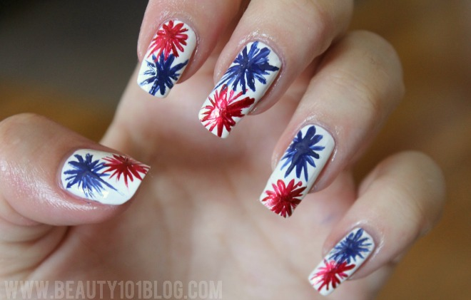 25 very beautiful fourth of july fireworks nail art designs red and blue fireworks fourth of july nail art prinsesfo Choice Image