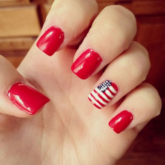 50 adorable fourth of july nail art ideas. Black Bedroom Furniture Sets. Home Design Ideas