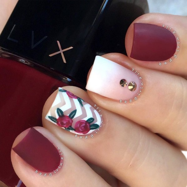 55+ Very Beautiful Chevron Nail Art Design Ideas