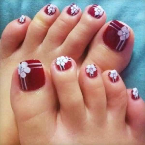 Nail art for short toenails best nails 2018 45 very cute flower nail art ideas collection for s prinsesfo Gallery