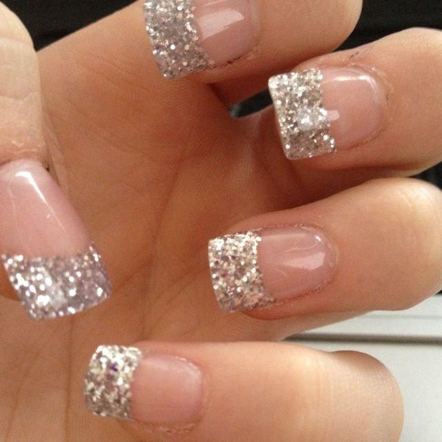 57 Most Beautiful Glitter Nail Art Design Ideas: 50 Most Beautiful Glitter French Tip Nail Art Design Ideas