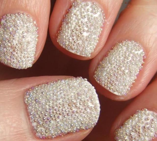 55 Very Cute Caviar Nail Art Design Ideas