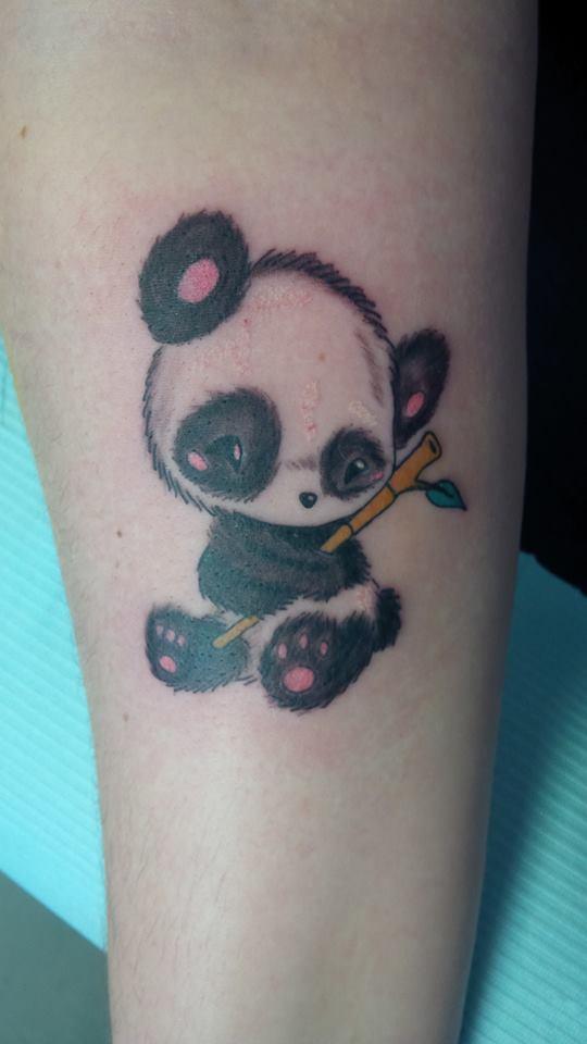 74 wonderful panda tattoos. Black Bedroom Furniture Sets. Home Design Ideas