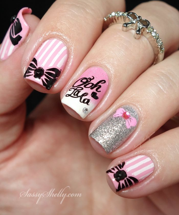 50 Most Stylish Bow Nail Art Design Ideas For Girls