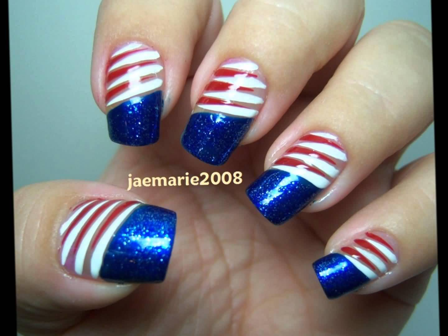 Luxury 4th Of July Nail Designs For Short Nails Photos - Nail Art ...
