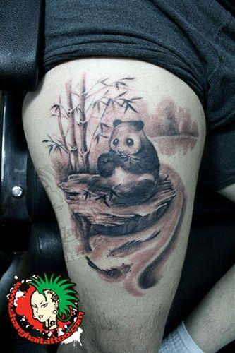 69 panda bamboo tattoos. Black Bedroom Furniture Sets. Home Design Ideas