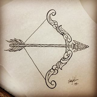 22+ Latest Bow And Arrow Tattoo Designs