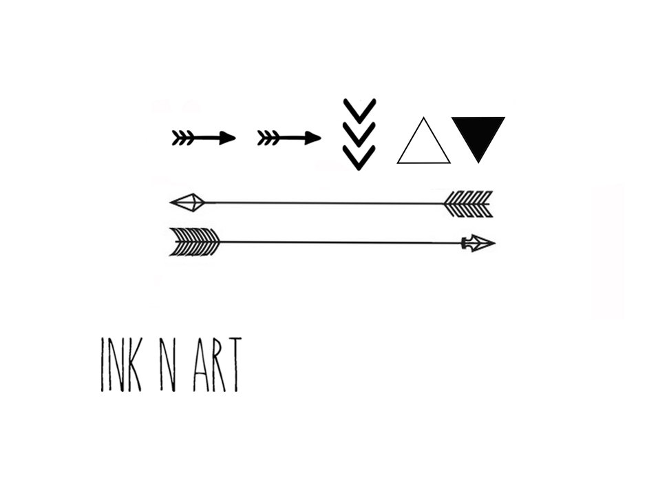 c8087bb54 Triangle End Arrows With Wording Ink N Art Tattoo Design