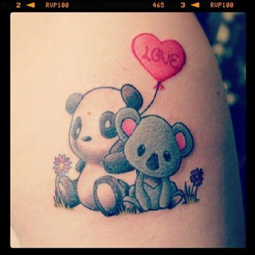 Baby Koala Bear Tattoo