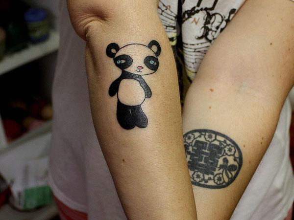 Cute baby panda tattoo by reddogtattoo for Baby panda tattoo