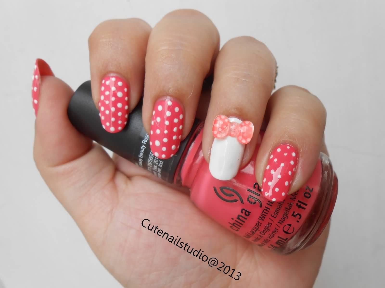 46 most beautiful 3d bow nail art ideas