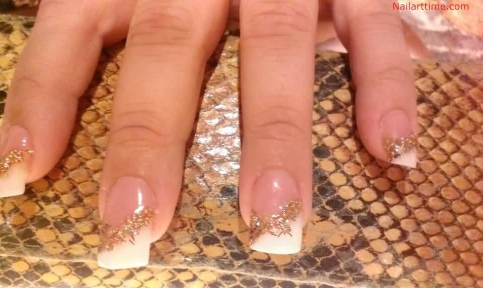50 Most Beautiful Glitter French Tip Nail Art Design Ideas