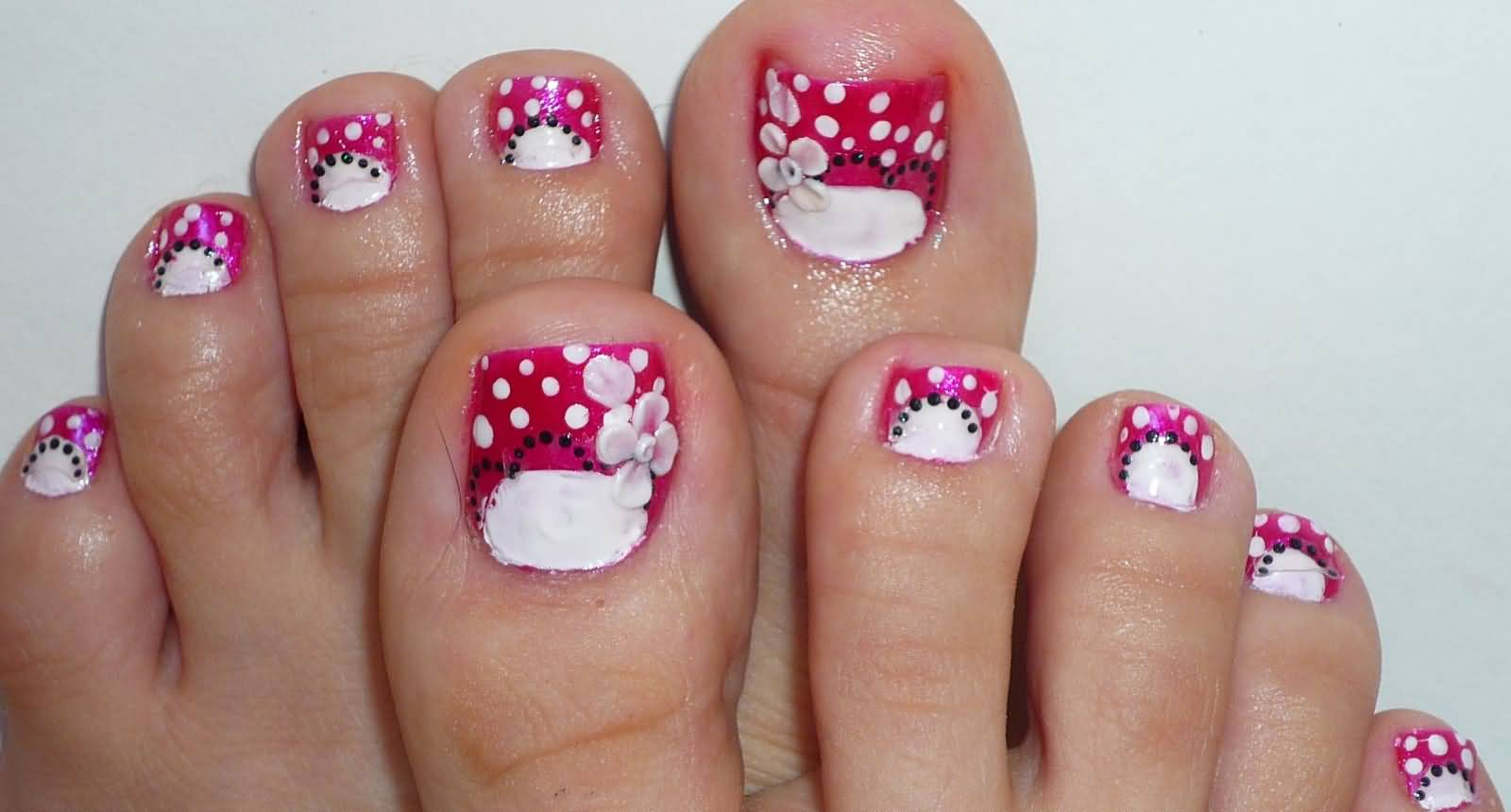 50+ Most Beautiful And Stylish Flower Toe Nail Art Design Ideas
