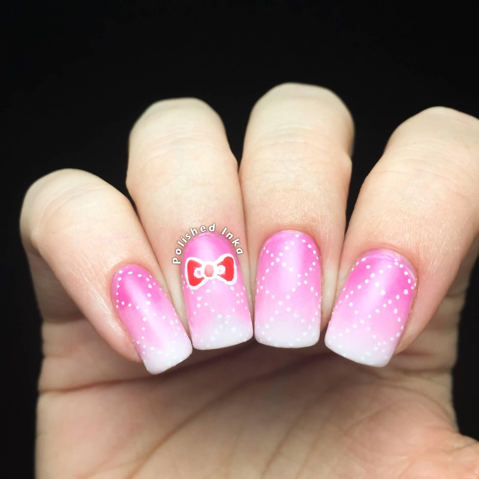 42 beautiful bow nail art design ideas for girls