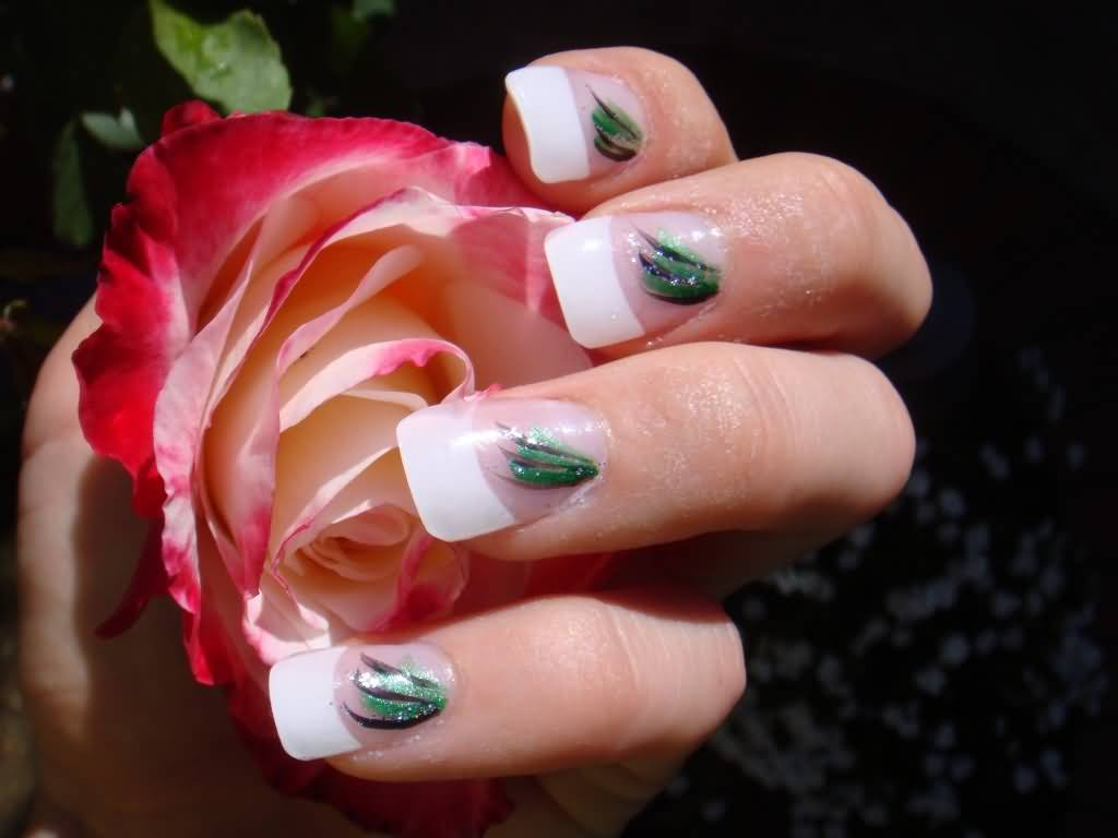 Dorable Nail Designs With Feathers Festooning - Nail Art Ideas ...