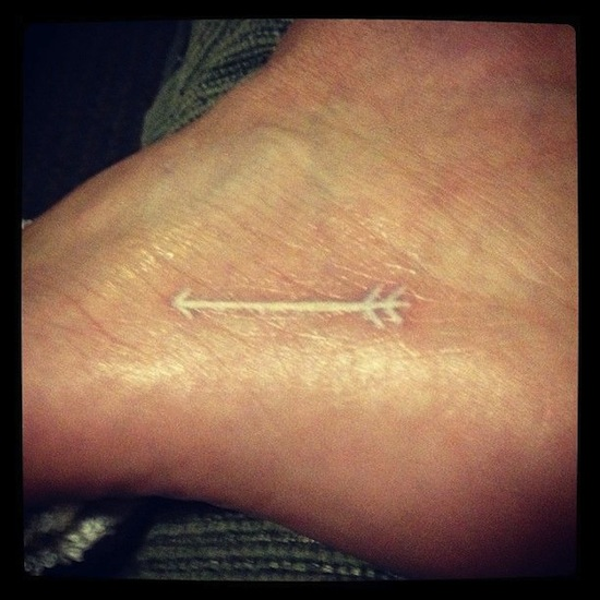71 beautiful arrow tattoos on foot for Fresh white ink tattoo