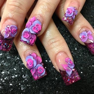 Acrylic Nail Art Designs 3d Hession Hairdressing