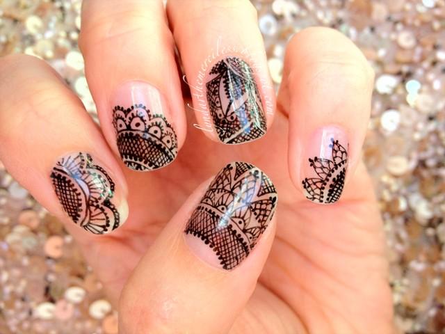55+ Most Beautiful Lace Nail Art Designs