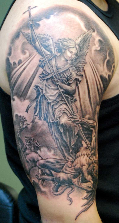32+ Amazing Half Sleeve Archangel Tattoos