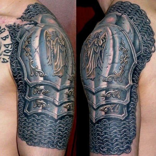 Archangel Michael tattoo On Shoulder by Smitriy Bronya
