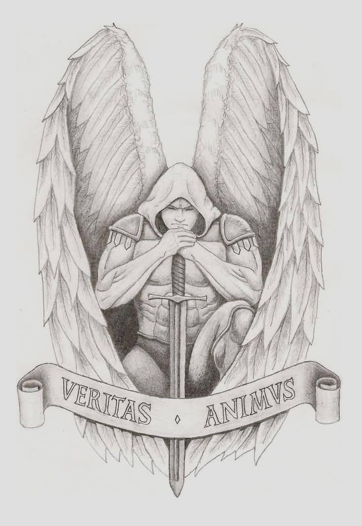 19 archangel tattoo designs. Black Bedroom Furniture Sets. Home Design Ideas