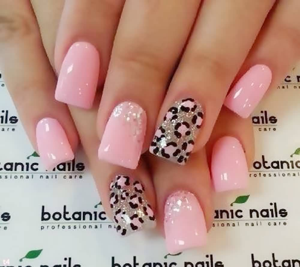 Red Leopard Print Nails 45+ Cute Pink L...