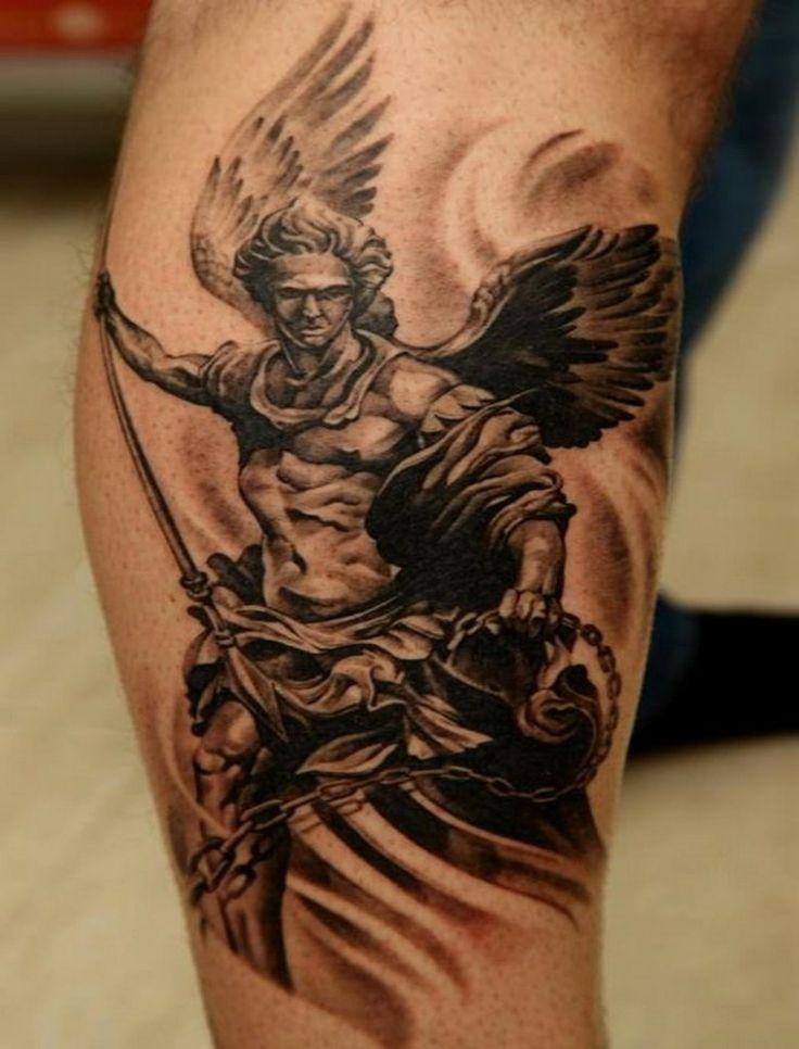 50 wonderful archangel tattoos for Angel mens tattoo