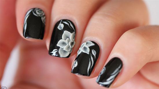 Image result for Black Designs for Nails for Art