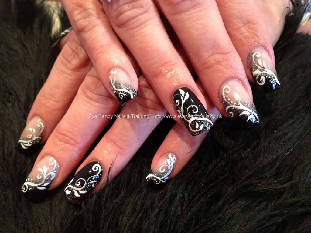 Nails Art: 40+ Stylish Black Acrylic Nail Art Designs