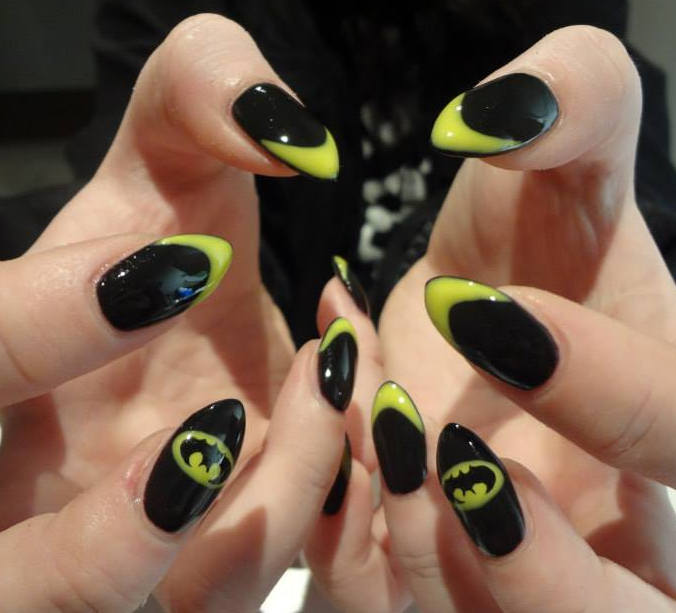 View Images Most beautiful almond shaped acrylic nail art ... - Acrylic Nail  Designs - Batman Nail Designs Graham Reid