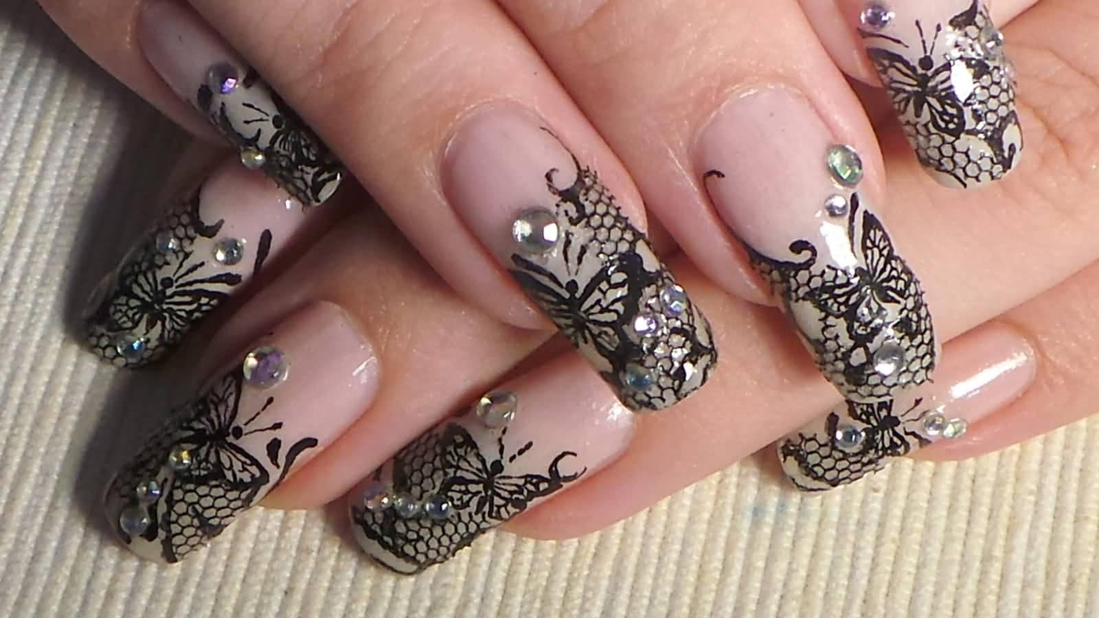 кружево на нарощенных ногтях в картинках самая популярная баница