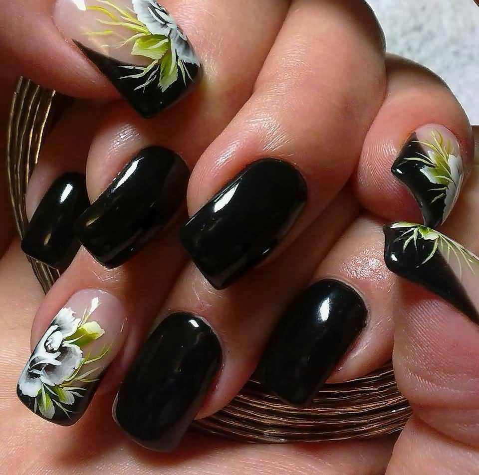 Awesome Black Nail Styles Embellishment - Nail Art Ideas - morihati.com