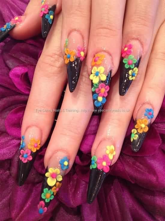 40 latest 3d acrylic paint nail art design ideas