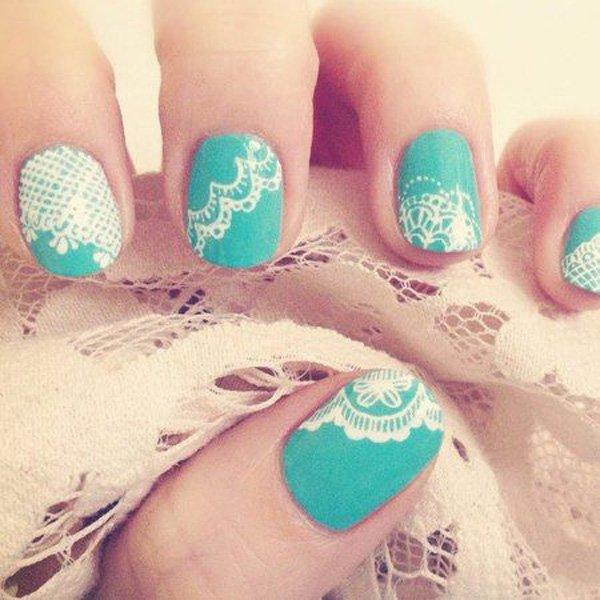 50+ Latest Lace Nail Art Design Ideas