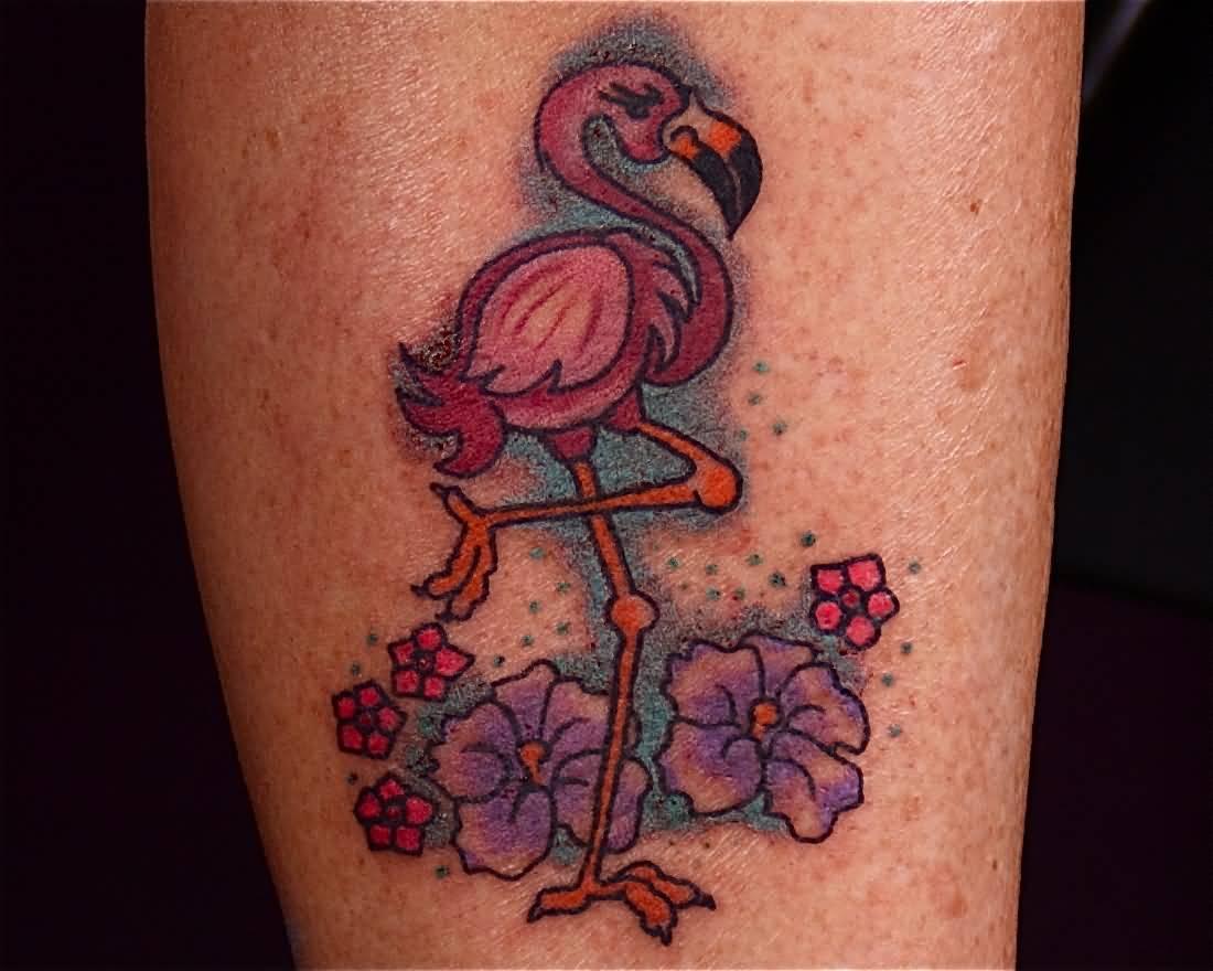 22 colorful flamingo tattoos for Pink flamingo tattoo
