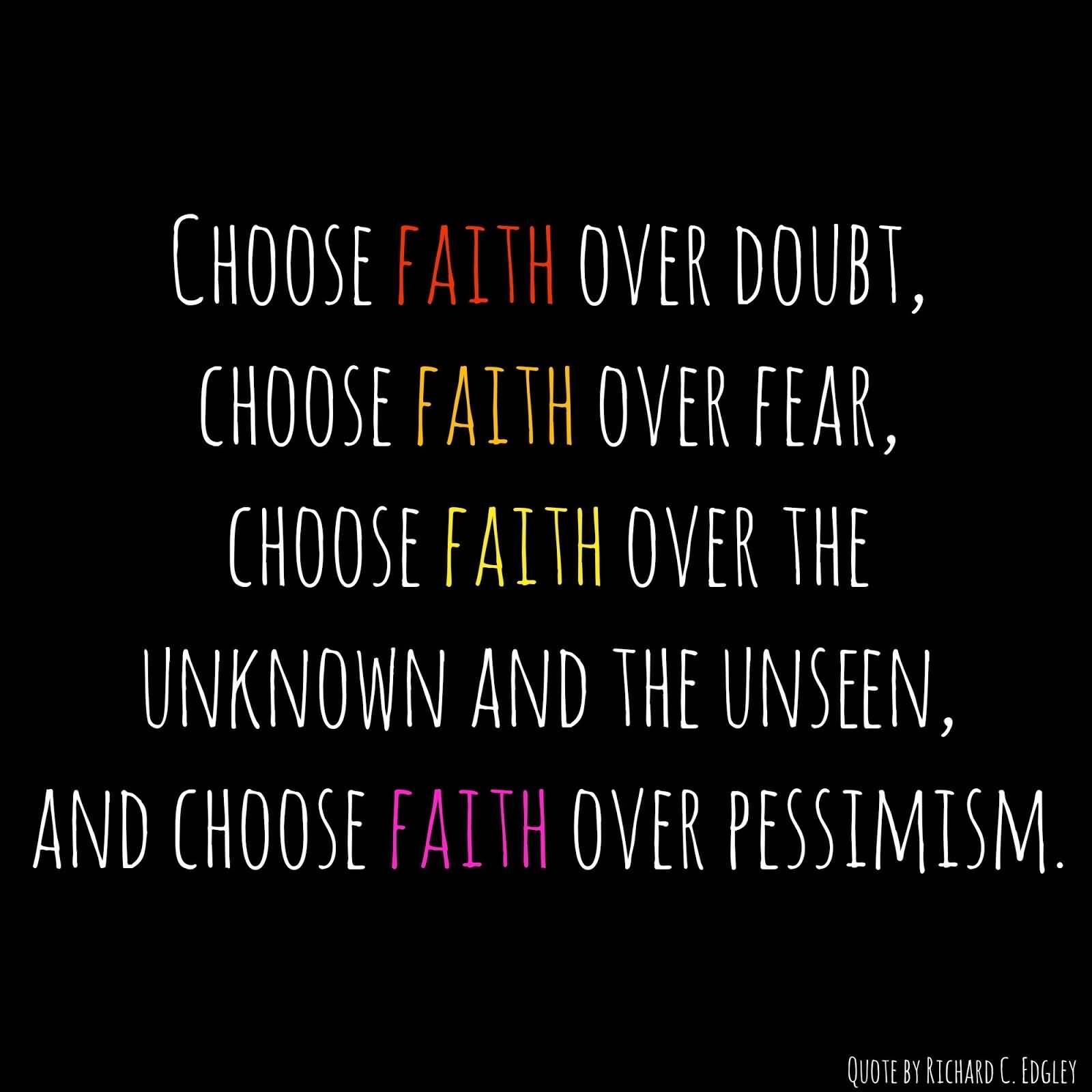 56+ Faith Quotes, Sayings About Faith