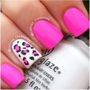Pink leopard print nail designs choice image nail art and nail 45 cute pink leopard print nail art designs cute accent pink and white leopard print nail prinsesfo Images