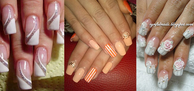 Cute acrylic nail art designs prinsesfo Gallery