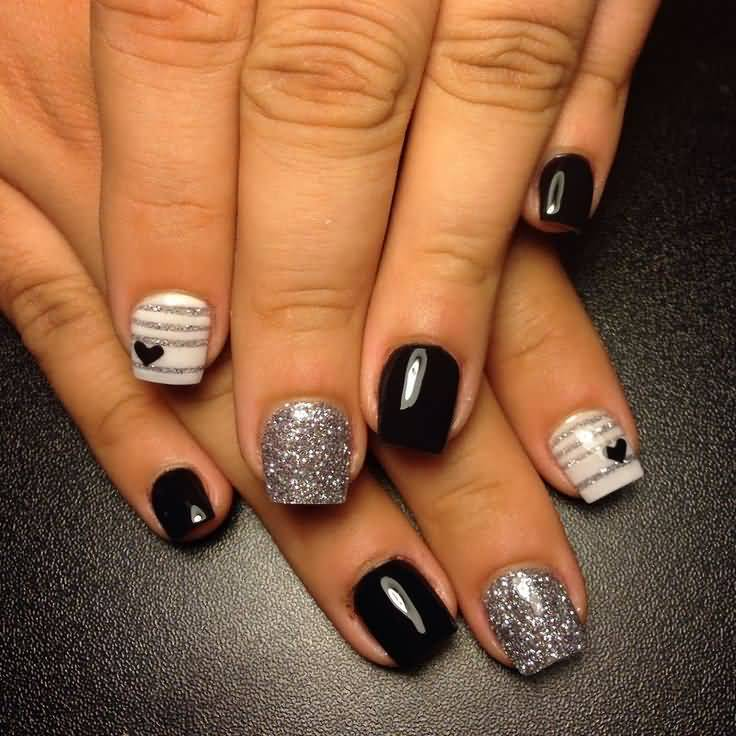 Black Nail Art: 40+ Stylish Black Acrylic Nail Art Designs